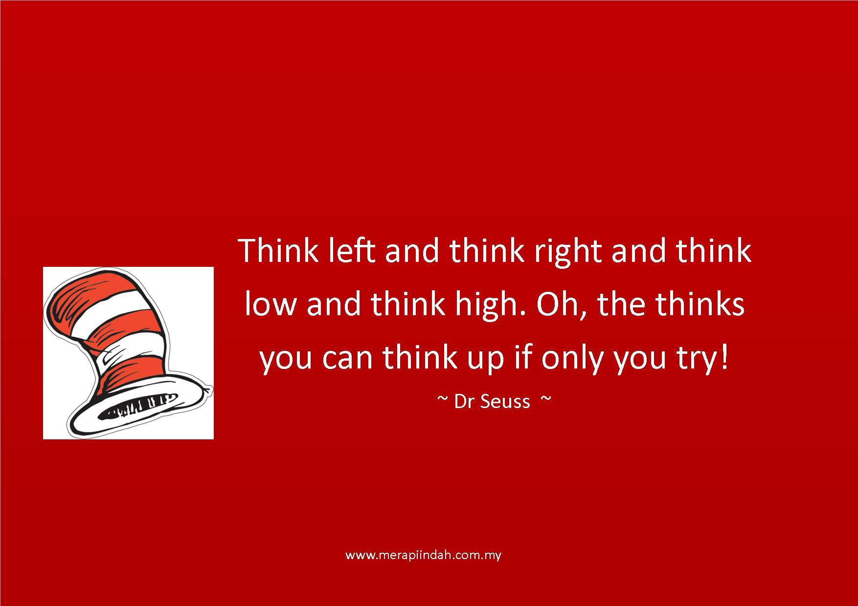 Quote On Thinking By Dr Seuss Nurturing Future Leaders